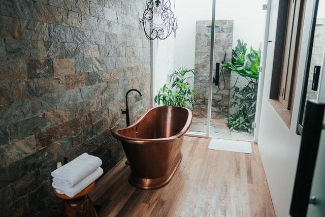 Engelskt lyxigt badrum